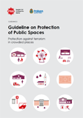 Omslagsbild för  Guideline on protection of public spaces : Protection against terrorism in crowded places, guidance